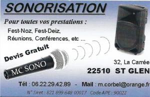 Sonorisation MC  -  St Glen